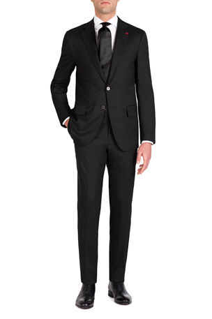 Isaia Men's Solid Stretch Two-Piece Suit