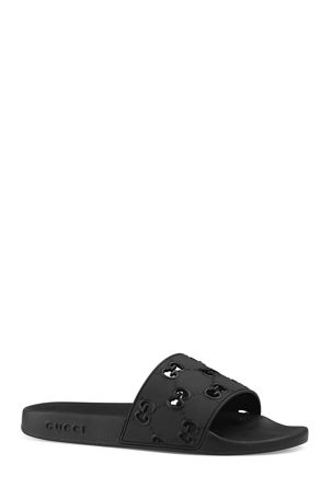 Gucci Men's GG Pursuit Slide Sandals