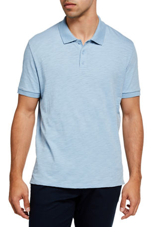 Vince Men's Classic Slub Polo Shirt