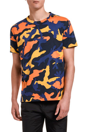 Valentino Men's Camo Pattern T-Shirt