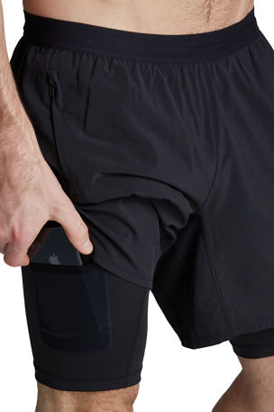Fourlaps Men's Command 7-Inch Shorts w/ Compression Liner