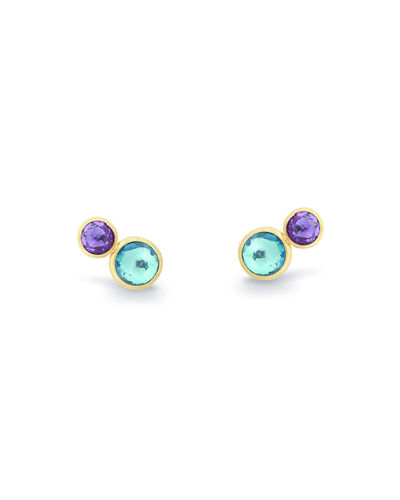 Jaipur Two-Stone Stud Earrings