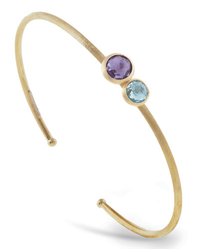 Marco Bicego Jaipur 18K Two-Stone Bangle Bracelet