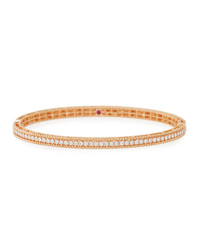 Symphony Collection 18K Gold Princess Diamond Bangle