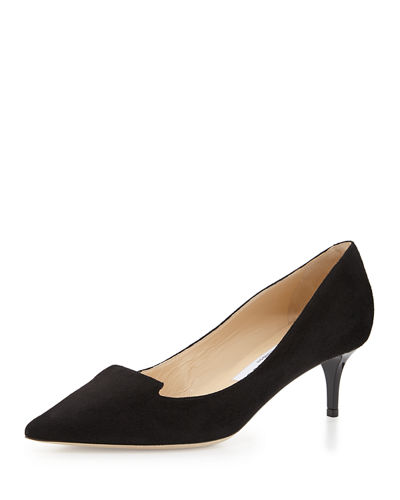 Jimmy Choo Allure Suede Kitten-Heel Pump
