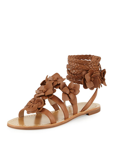 Blossom Leather Gladiator Sandal