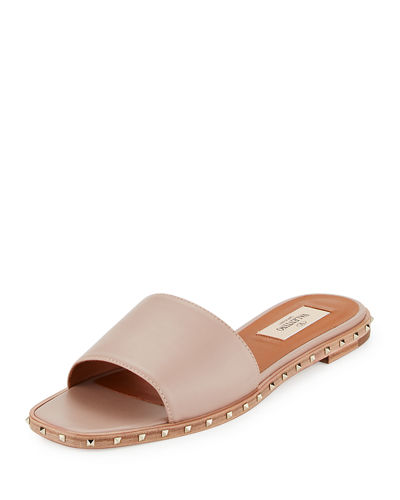 Soul Rockstud Leather Slide Sandal