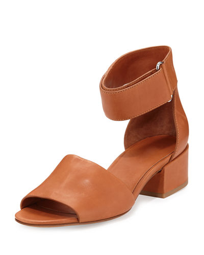 Rosalia Leather Ankle-Wrap Sandal