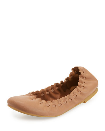 Jane Scalloped Ballerina Flat