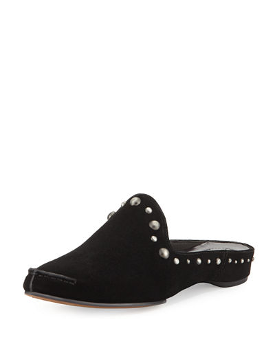 Donald J Pliner Bayez Studded Suede Slip-On Mule