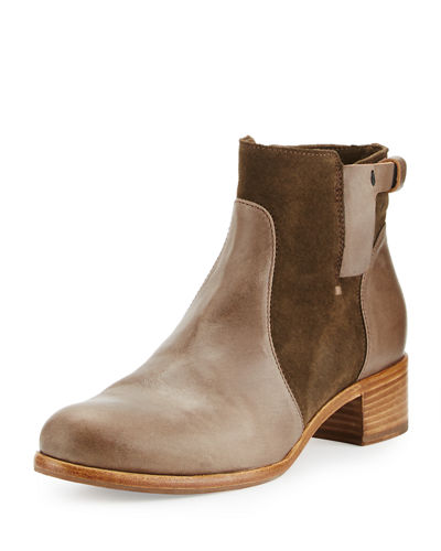 Viola Leather & Suede Bootie