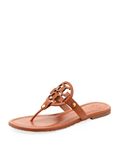 Tory Burch Miller Flat Leather Thong Sandal