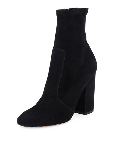 Valentino Stretch-Suede Ankle Bootie