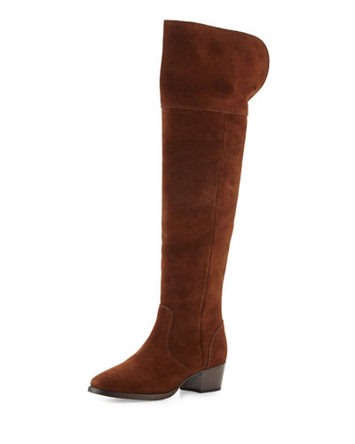 Clara Suede Over-The-Knee Boot