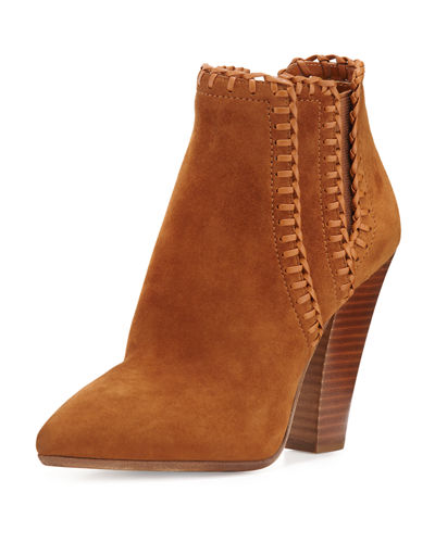 Michael Kors Channing Whipstitch Suede Bootie