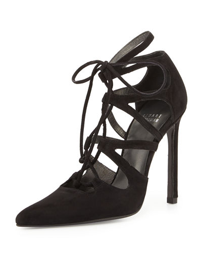 SUEDE LACE-UP EXCITE PUMP