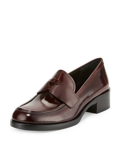 Brushed Leather Penny Loafer