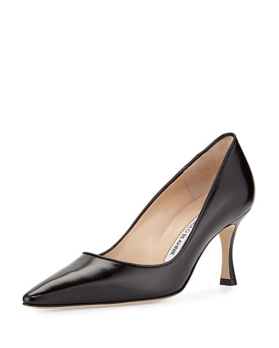 Tuccio Leather Mid-Heel Pump