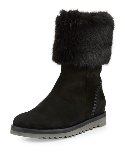 Aquatalia Paulette Faux-Fur Lined Boot