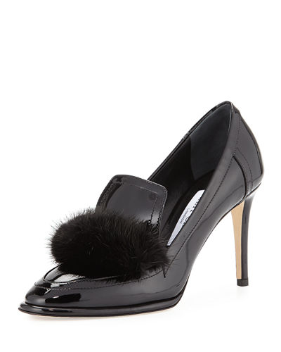 Lyza Mink-Trim 85mm Pump