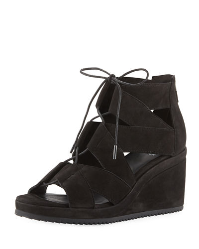 Dibs Lace-Up Wedge Sandal