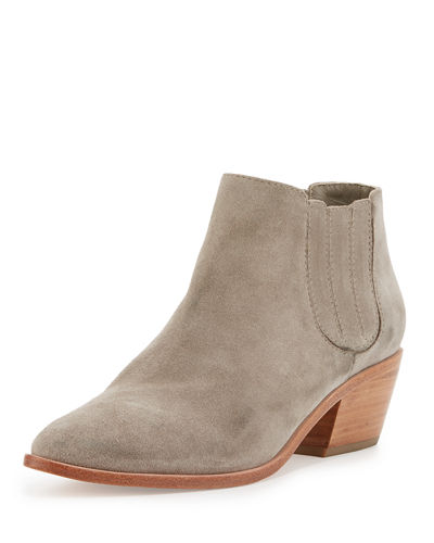 Barlow Suede Pointed-Toe Bootie