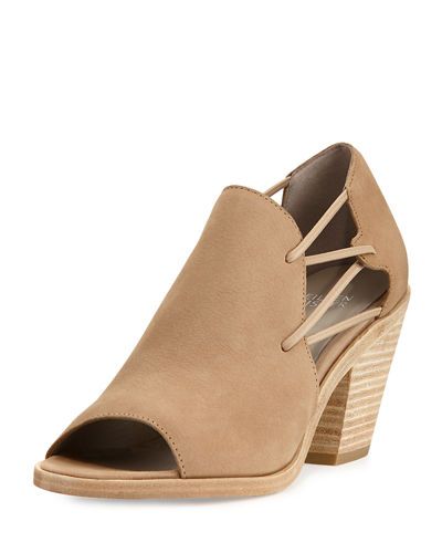 Nikki Stretch-Side Open-Toe Bootie
