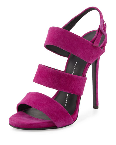 Alien Strappy Suede 115mm Sandal