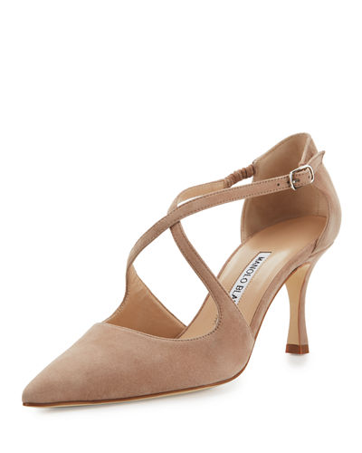 Umice Suede Crisscross 70mm Pump