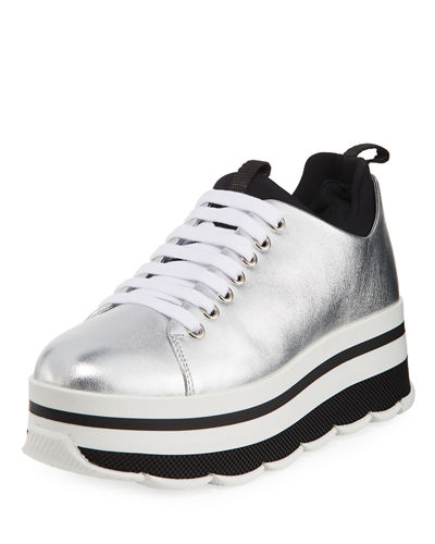 platform low top sneakers - Black Prada BneG0z97
