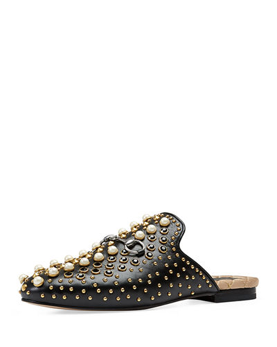 Flat Princetown Studded Mule