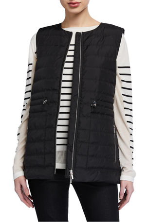 Lafayette 148 New York Dax Zip-Front Quilted Alpine Vest