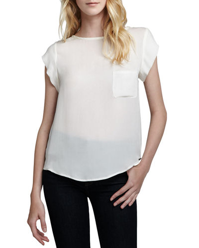 Joie Rancher Short-Sleeve Blouse