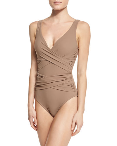 Criss-Cross One-Piece Swimsuit