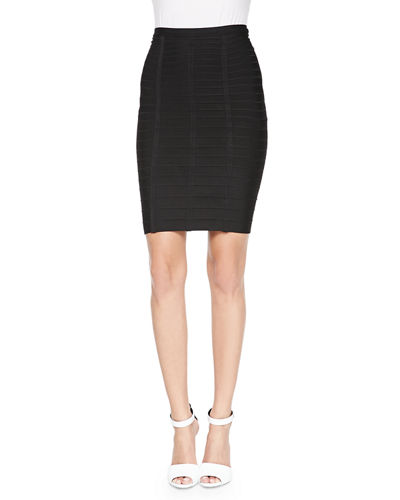 Herve Leger Signature Essential Bandage Skirt