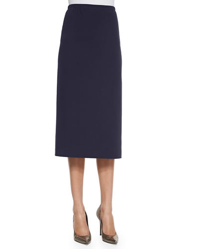 Long Punto Milano Pencil Skirt