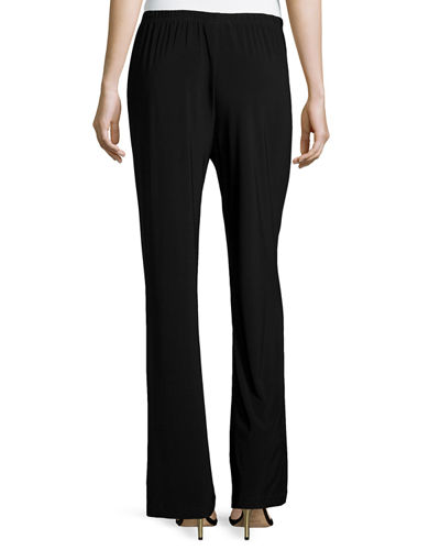 Stretch-Knit Straight-Leg Pants, Petite