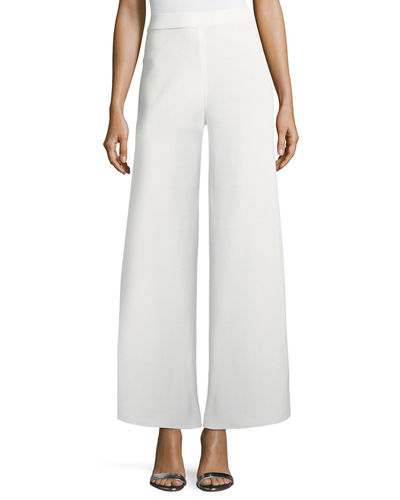 Washable Wide-Leg Pants, Plus Size