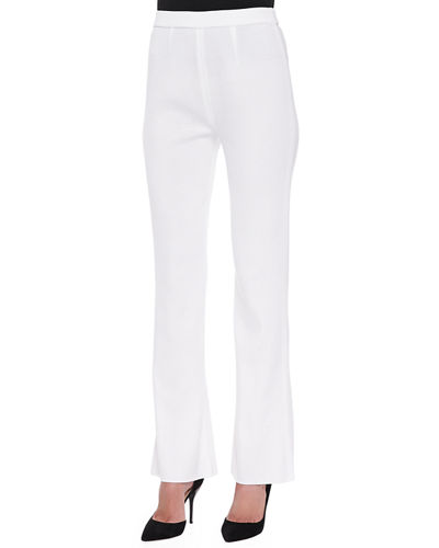 Boot-Cut Knit Pants, Petite