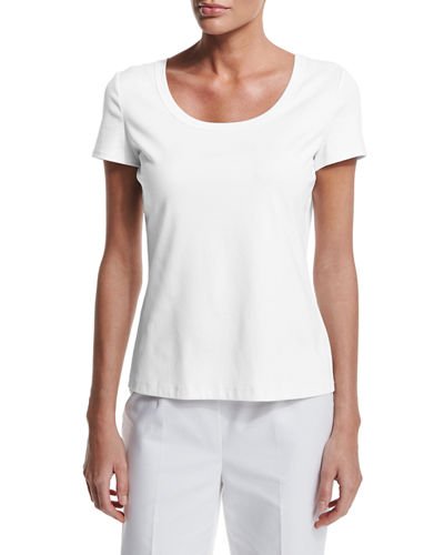 Short-Sleeve Cotton Tee, Plus Size