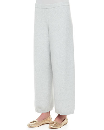 Wide-Leg Knit Pants, Plus Size