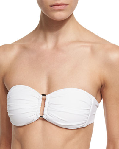 Gathered Bandeau Swim Top