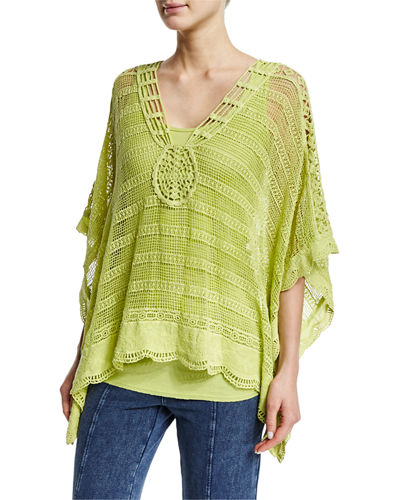 Ara Hacienda Crochet Top, Plus Size