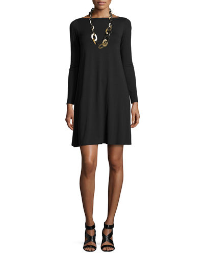 Eileen Fisher Long-Sleeve A-line Dress, Petite
