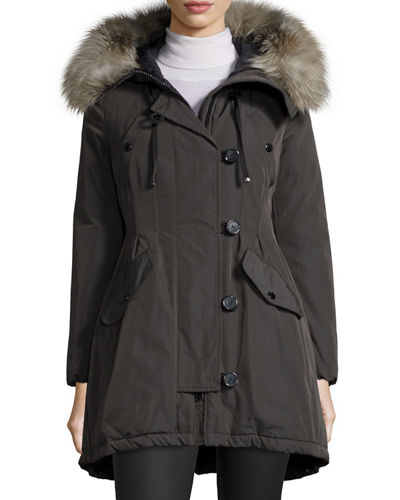 MonclerArriette Fur-Trim Puffer Coat