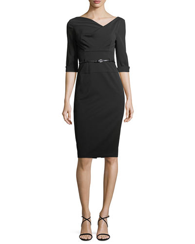 Jackie 3/4-Sleeve Sheath Dress