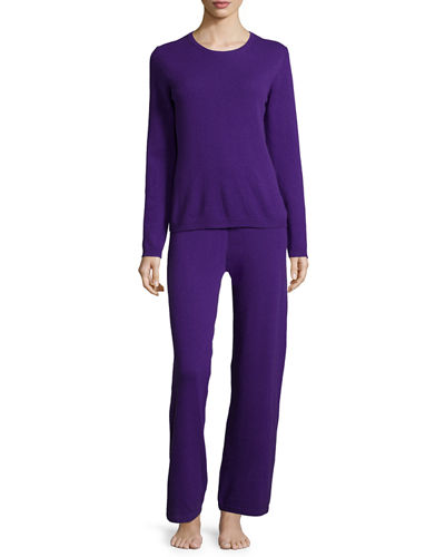 Neiman Marcus Cashmere Collection Cashmere Sweater & Pant