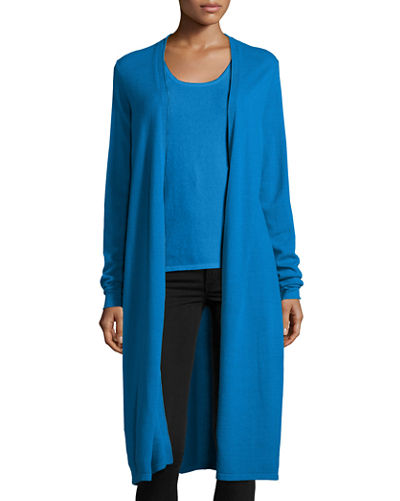 Neiman Marcus Cashmere Collection Cashmere Long Duster