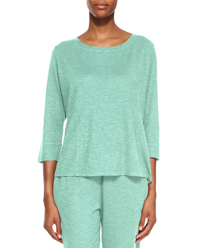3/4-Sleeve Hemp Twist Top, Women's