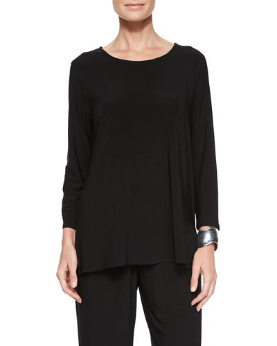 Caroline Rose 3/4-Sleeve Stretch-Knit Top, Petite
